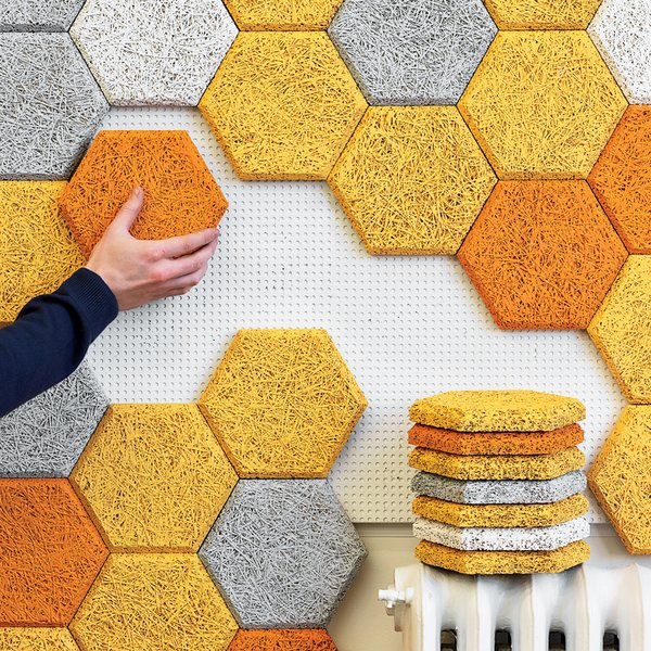 HEXAGON WALL TILES  Photo 1 of 9 in How to Use Modern Home Decor in Unexpected Ways from Wake up Your Walls: 10 Wall Decor Ideas