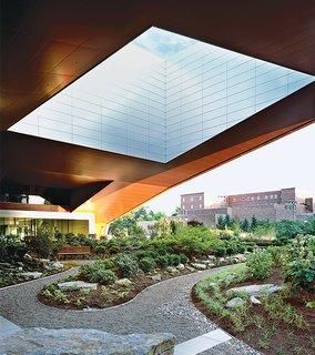 A Peaceful Plaza Basks Beneath This Giant, Futuristic Oculus - Photo 1 of 1 -