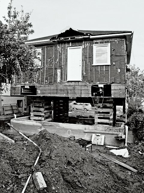 The house under construction.  Photo 10 of 11 in This Bungalow is Anything but Basic