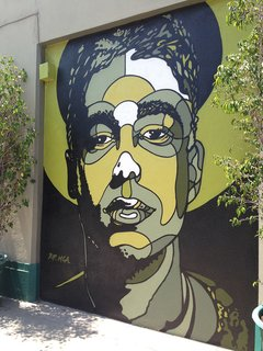 Well-known artist David Flores pays tribute to MCA on an Atwater Village wall.