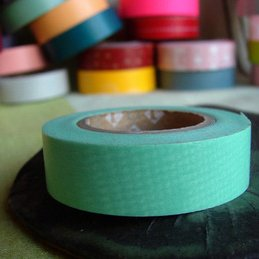 Japanese washi tape is a staple in any crafters box. Made of washi, or rice paper, it is semi-transparent and can be reused, repositioned, and easily removed.