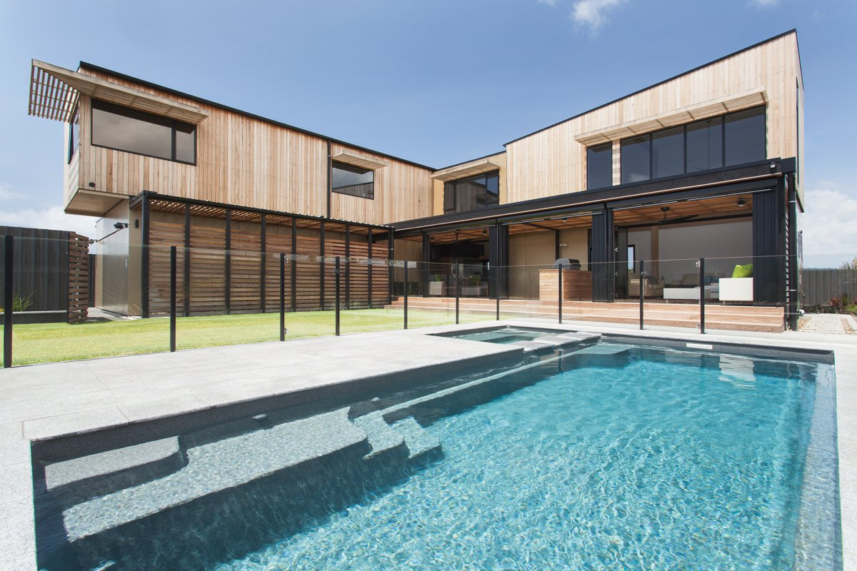 Photo 1 of 8 in a modular beach home in australia allows for L shaped modular homes