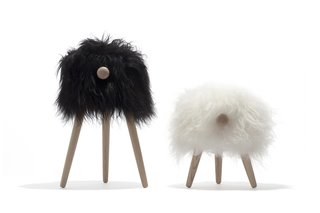 Povl Kjer's Tuft stool riffs on his previous piece for Danish Crafts, the mirthful, imaginative Rocking Sheep.
