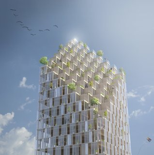 A 40-Story Skyscraper Built of Wood May Not Be Far from Reality - Photo 4 of 8 -