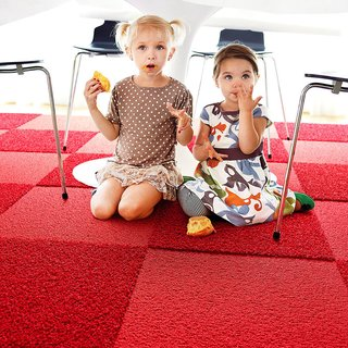 FLOR tiles are designed to be impervious to moisture, and spills and stains won't seep through the carpet.