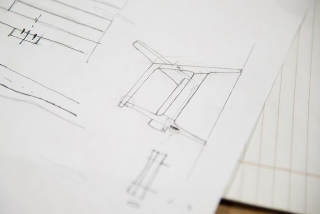 It all starts with a sketch. Photo provided by Thos. Moser.  Photo 4 of 9 in The Apprentice: A City Modern Preview