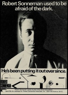 Throughout Sonneman's years of being in the industry, he managed to turn lighting design into an art form, while creating a strong alliance between form and function. This advertisement from the early 1970s shows the range of artistic forms he brought to production in the early years of his business.
