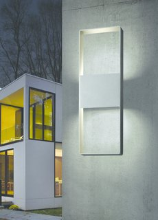 Sonneman continues to develop innovative lighting designs that provide a sculptural presence. Most recently, he launched the Inside-Out collection, his first venture into lighting with both indoor and outdoor applications. Shown here is Light Frames, which allows light to be projected downward or up and down to create a halo profile.