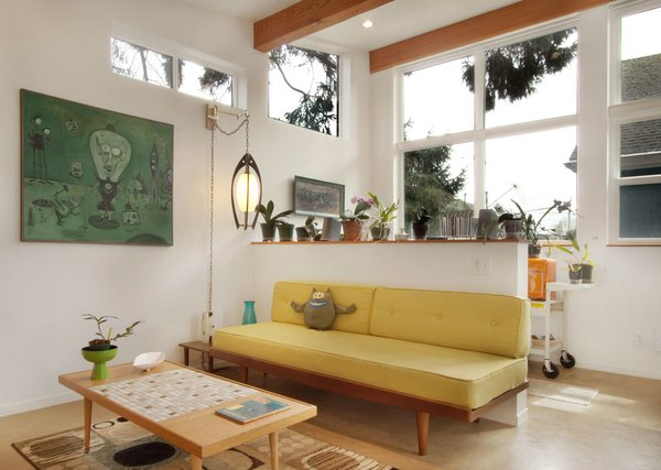 """The single main room features ample glazing to provide natural light for cultivation of artistic endeavors. In the words of Witt, the """"studio is the anchor for the backyard."""""""