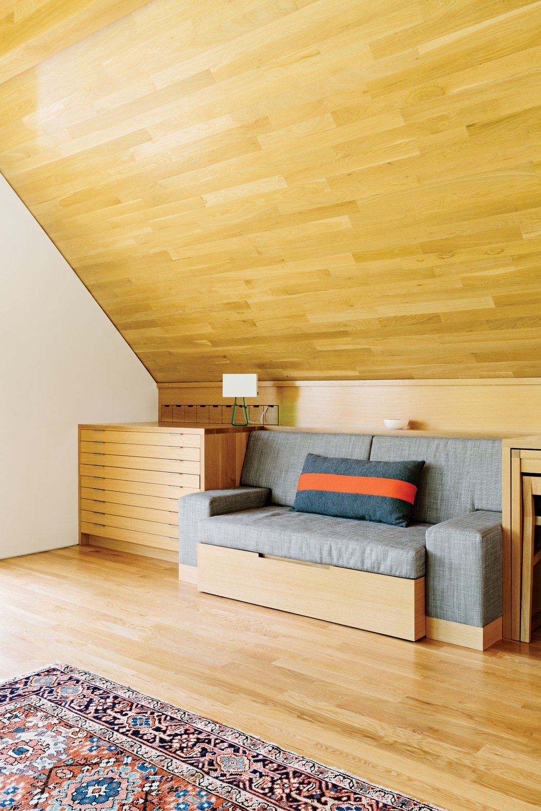 """""""This was a very, very, very, very custom job,"""" says Klebba.  Photo 8 of 10 in Salvaged Wood Renovation in Portland"""