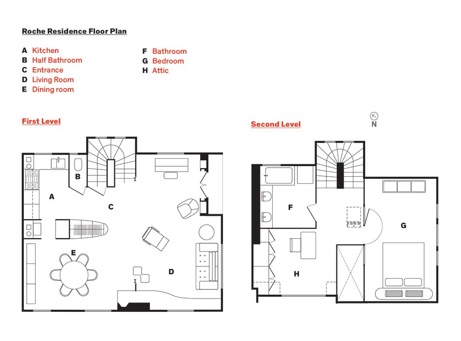 Roche Residence Floor Plan  Photo 8 of 9 in This Petite Paris Apartment is a Vintage Furniture–Filled Delight