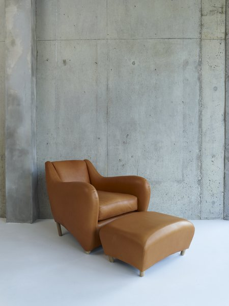A closer look at the iconic Balzac Lounge Chair and Ottoman, SCP's best-selling product.  Photo 2 of 8 in An Interview with SCP Founder Sheridan Coakley