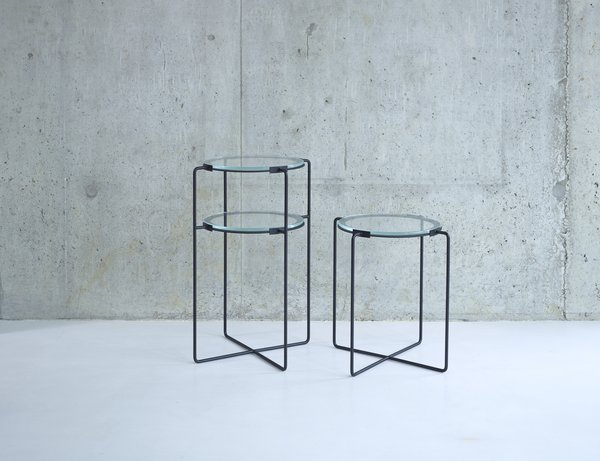 These iron side tables from designer Jasper Morrison are available with one or two tiers of glass.  Photo 3 of 8 in An Interview with SCP Founder Sheridan Coakley
