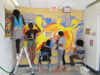 As part of the state's Commissioner's Network, New Haven's Lincoln-Bassett School will undergo a major transformation this year to improve its academic, social, and health programs. The Connecticut Center for Arts and Technology teamed up with Svigals + Partners for this mural-painting project, aimed to bring more inspiration into the school environment.
