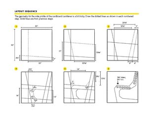 You Can Make a DIY Cardboard Chair This Weekend - Photo 3 of 3 - Use these drawings to create the dotted lines on the side of the chair.