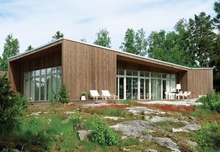 Prefab house in Muskö, Sweden