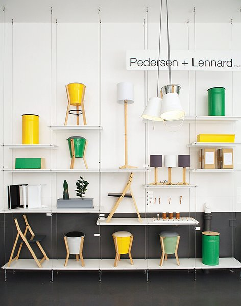 Lennard and Pedersen display and sell their furniture in a retail space attached to their Field Office coffee shop in the Woodstock Exchange in Cape Town. The Bucket Stool proved an early and enduring hit.  Photo 2 of 16 in Two Cool Surfers Design Some Serious Furniture