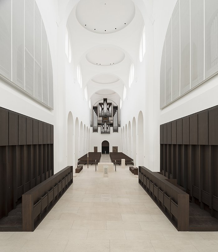 Certain religious artifacts were relocated in order to achieve a clearer visual field inside the church.  Photo 7 of 21 in You Won't Believe That These Incredible Modern Buildings are Chapels and Synagogues