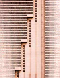 """Building With Steps, 2014. """"The tallest building in Fort Worth, Texas, this simple brutalist architectural design is a unique addition to the vibrant and growing downtown landscape, with a strong, repetitive pattern of windows being interrupted by meticulous, powerful vertical lines,"""" says Olic."""