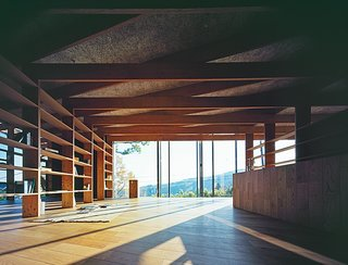 The wood flooring throughout the home is by Kodama.