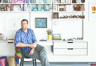 Rob Fissmer of the furniture company Vitsœ lives with his wife in a restored, A. Quincy Jones-designed house in Crestwood Hills.