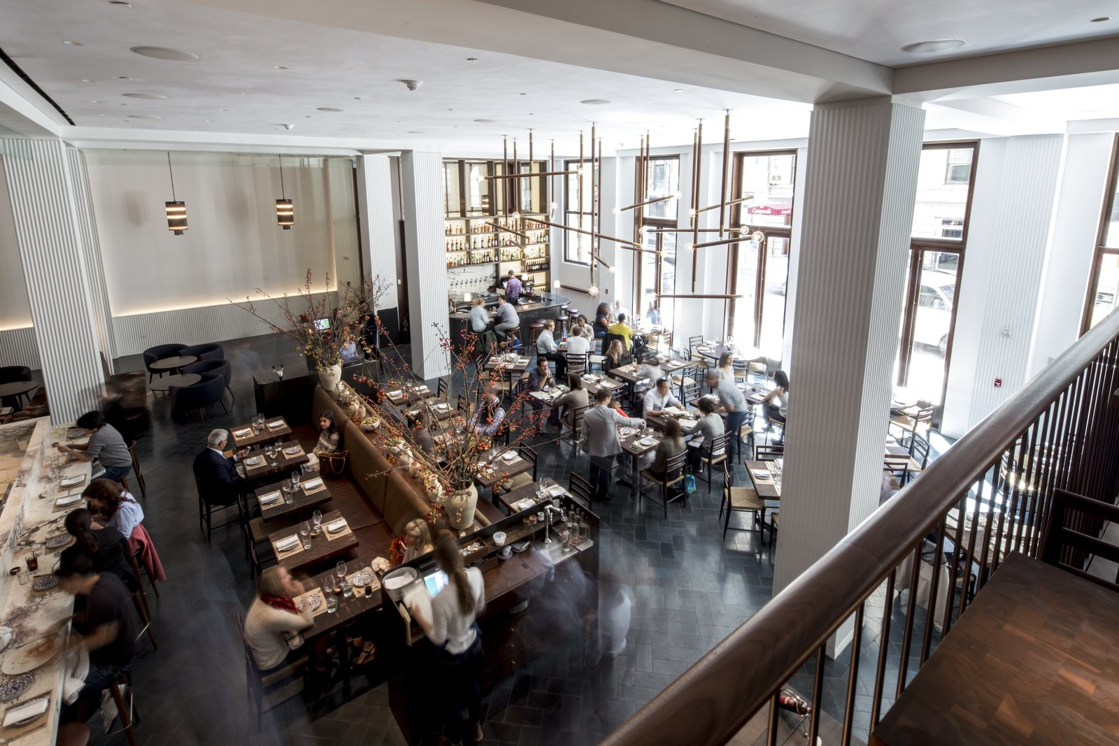 Marta, a new restaurant from Danny Meyer's Union Square Hospitality Group, along with Chef Nick Anderer of Maialino, is located in the hotel lobby.  Photo 4 of 6 in Date Night for Architects: New York's Newest Restaurant with Design Cred
