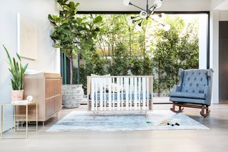 Novella Crib by Nursery Works, $1000 available via retailers.<br>This unique design can transform from crib to toddler bed to daybed or reading nook, ensuring its continued use as your child grows. It's made in America with a solid ash frame and steel legs.