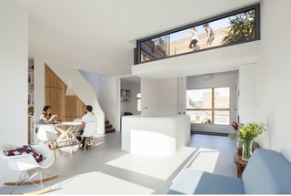 A Clever Sunken Roof Fills a London Terrace House with Light - Photo 1 of 7 -