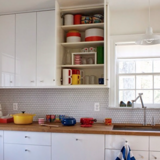 Photo of the Week: Bright White Kitchen With Wood Countertop - Photo 1 of 1 -