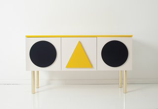 Danish-German designer Gesa Hansen released an Alexander Girard–inspired sideboard in 2013 for the Hansen Family line.