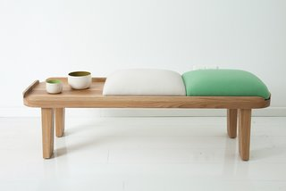 The Japanese-inspired tea bench is a new design.