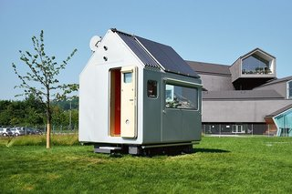 Renzo Piano's Diogene cabin on the Vitra campus in Switzerland, as published in Cabins (Taschen, 2014).