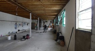 An example of a space with good bones, the original shop floor provided the designers with a blank canvas.