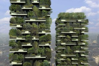 Pair of Skyscrapers Sneak a 2,800-Plant Park into Milan - Photo 5 of 5 -