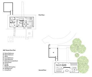 360° House Floor Plan<br><br>A    Master Bathroom<br><br>B    Master Bedroom<br><br>C    Office<br><br>D    Guest Bathroom<br><br>E    Guest Bedroom<br><br>F    Mudroom-Laundry Room<br><br>G    Family Room<br><br>H    Garage<br><br>I    Wet Bar<br><br>J    Kitchen-Dining Area<br><br>K    Half Bathroom<br><br>L    Living Room