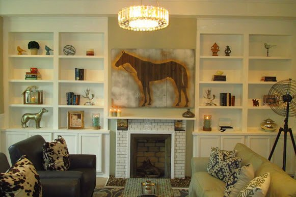 The bright new living room.  Photo 3 of 4 in The Winning Renovation of Rowhouse Showdown