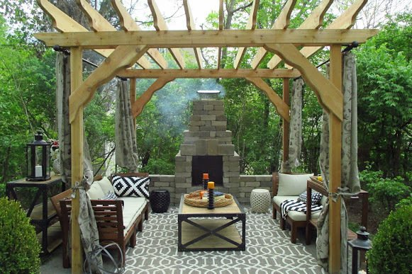 The renovation added a new outdoor living space to the house.  Photo 4 of 4 in The Winning Renovation of Rowhouse Showdown