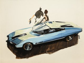 When the Future Had Fins: Fantastical Vintage Auto Drawings - Photo 4 of 7 -