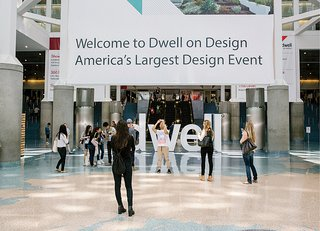 Dwell letters decorate the main entrance.