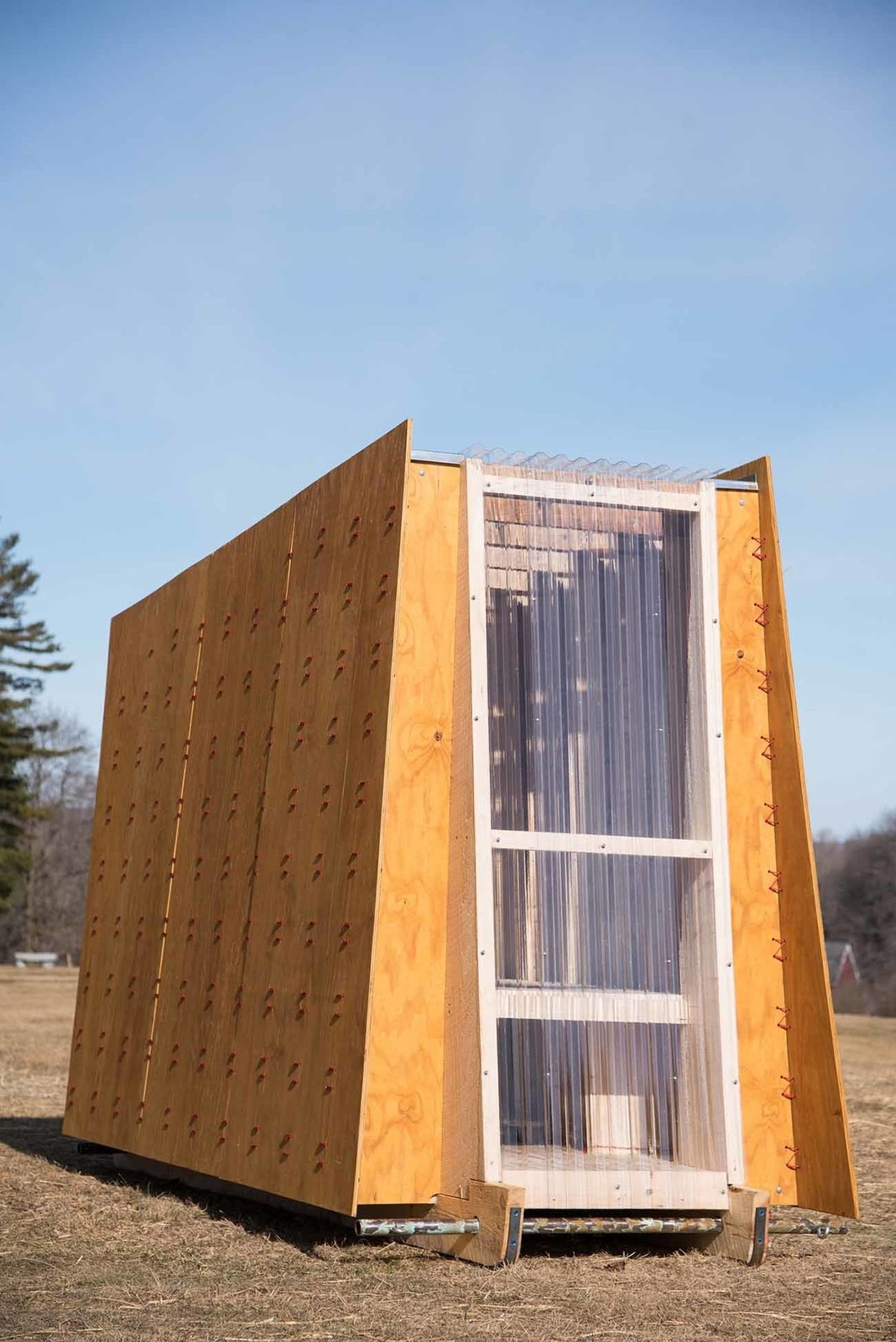 """""""The Ice Ark,"""" TruexCullins Architecture + Design  TruexCullins Architecture + Design fabricated their shanty to look as wispy as the wind and as sleek as the ice on Lake Champlain.  Photo 3 of 5 in These Tiny Huts Are Key to a Frigid Winter Sport, But You'll Never Guess Which"""