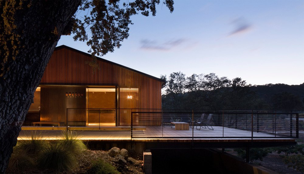 A remodel by Aidlin Darling Design at the Brecon Estate Winery in the Paso Robles wine-growing region of California has won a Merit Design Award for Architecture at the 2016 San Francisco AIA Design Awards.  Photo 4 of 9 in Longer Days Call For More Time on These 9 Modern Porches