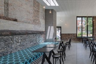 A Historic Masonry Stove Becomes the Hidden Gem of a New Cafe - Photo 7 of 8 -