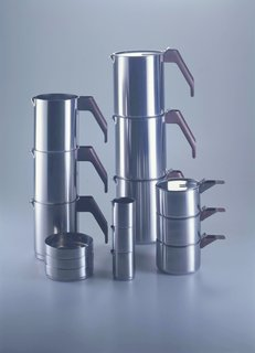 4060, Coffee and tea set, Alessi, 1982.