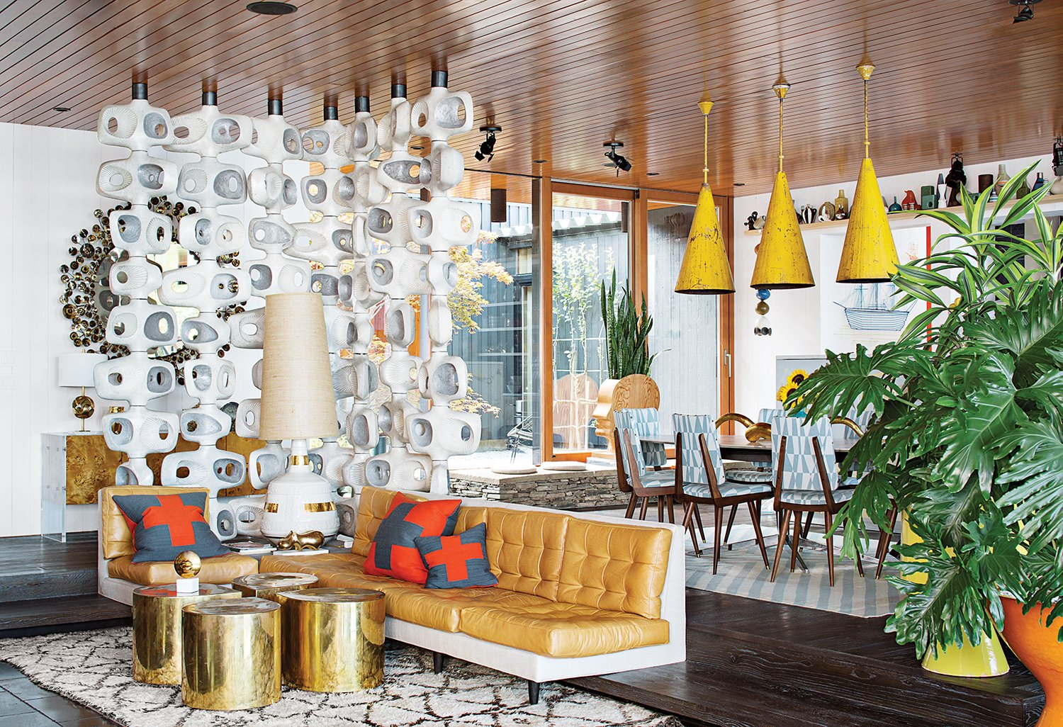 Living Room  127+ Inspiring Interior Ideas from Jonathan Adler and Simon Doonan Go Trippy Contemporary on Shelter Island