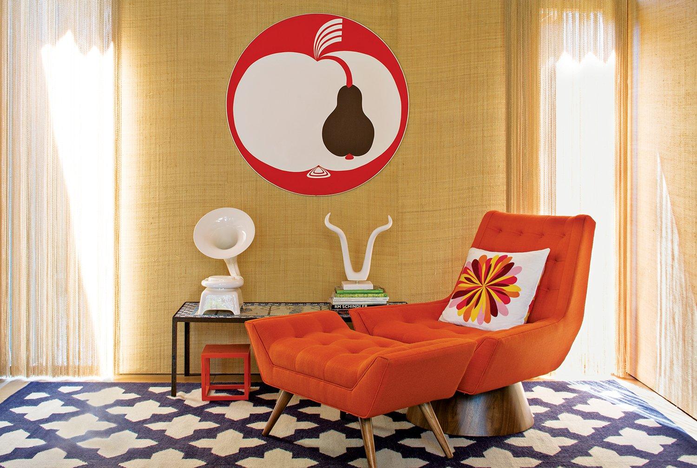 Living Room  127+ Inspiring Interior Ideas from Jonathan Adler and Simon Doonan Go Trippy Contemporary on Shelter Island