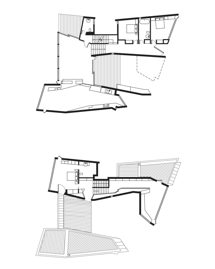 Fairhaven Beach House Floor Plan  Photo 10 of 10 in This Surfer Rules the Ocean from a Cliffside House