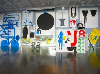 Communication Design: Geoff McFetridge The output of Los Angeles-based graphic designer and artist Geoff McFetridge takes myriad forms, from whole building facades, to museum installations-like this 2008 multimedia show, In the Mind, at the Seattle Art Museum-to posters, books, and packaging. Through his design studio, Champion Graphics, McFetridge has always maintained an independent practice.