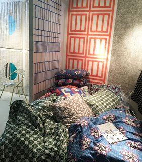 "From ZigZag Zurich's colorful booth, the CoopDPS collection of wallpaper, fabric, and bedding was designed by Nathalie Du Pasquier and George Sowden, two of the founding members of the Memphis Design group.<span> <a href=""/discover/DwellNow"">#DwellNow</a></span><span> <a href=""/discover/sightunseenoffsite"">#sightunseenoffsite</a></span><span> <a href=""/discover/zigzagzurich"">#zigzagzurich</a></span><span> <a href=""/discover/coopdps"">#coopdps</a></span><span> <a href=""/discover/memphisdesign"">#memphisdesign</a></span><span> <a href=""/discover/pattern"">#pattern</a></span><span> <a href=""/discover/bedding"">#bedding</a></span><span> <a href=""/discover/wallpaper"">#wallpaper</a></span><span> <a href=""/discover/color"">#color</a></span><span> <a href=""/discover/nathaliedupasquier"">#nathaliedupasquier</a></span><span> <a href=""/discover/georgesowden"">#georgesowden</a></span>"