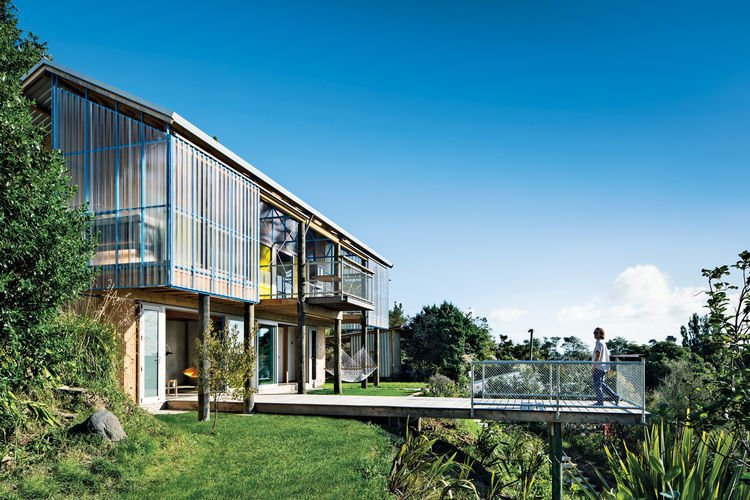 Tagged: Exterior and House.  Photo 1 of 5 in This Home Achieves Blissful Living in the Hills