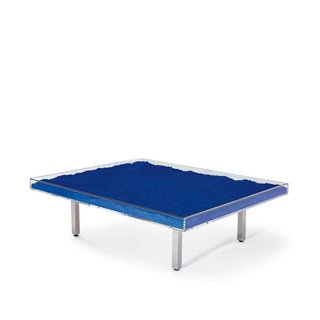 Table Bleue by Yves Klein  Filled with International Klein Blue pigment, the table is among the most famous artist-designed pieces of furniture in the world.